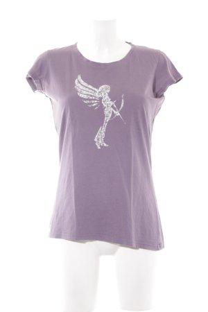 armedangels T-Shirt grey lilac casual look