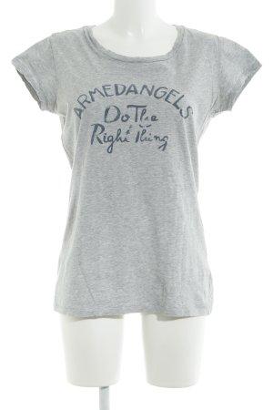 armedangels T-Shirt hellgrau-grau meliert Casual-Look