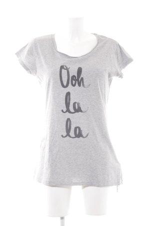 "armedangels Camiseta ""Oh la la"" gris"