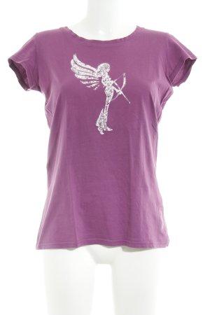 armedangels T-Shirt violet-white casual look