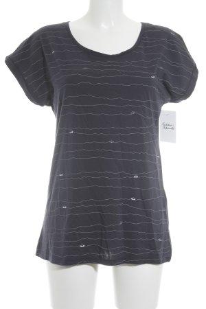 armedangels T-Shirt weiß-dunkelblau Casual-Look