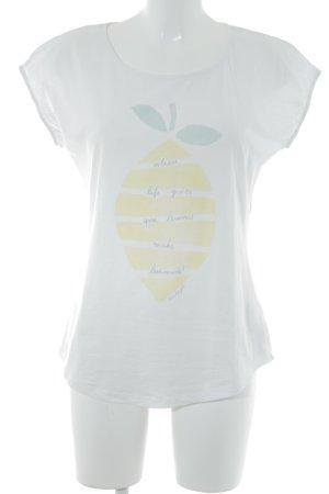 armedangels T-Shirt weiß Motivdruck Casual-Look