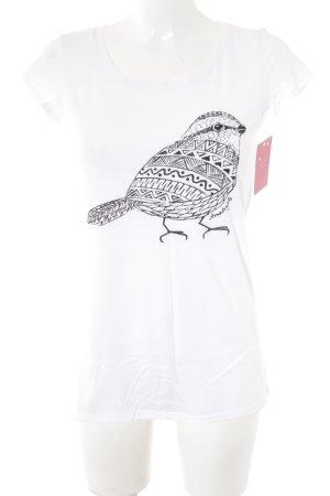 armedangels T-Shirt weiß-schwarz Casual-Look