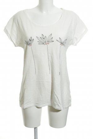 armedangels T-Shirt natural white floral pattern casual look