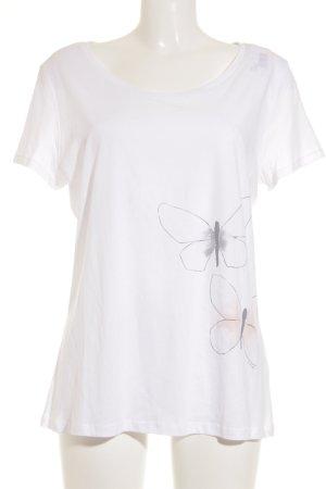 armedangels T-Shirt wollweiß-grau Casual-Look