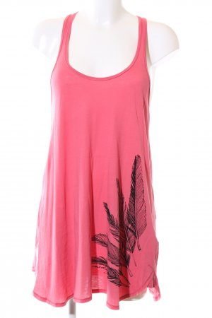 armedangels Tank Top pink themed print casual look