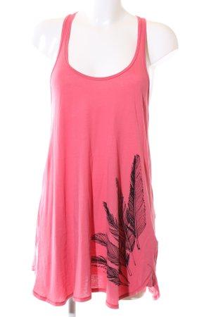 armedangels Tanktop pink Motivdruck Casual-Look