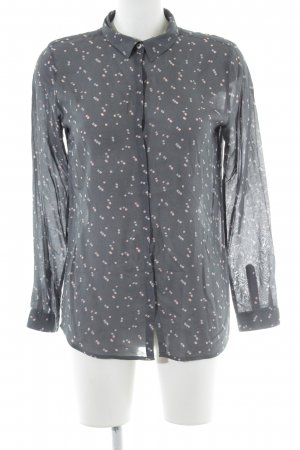 armedangels Transparenz-Bluse grafisches Muster Casual-Look