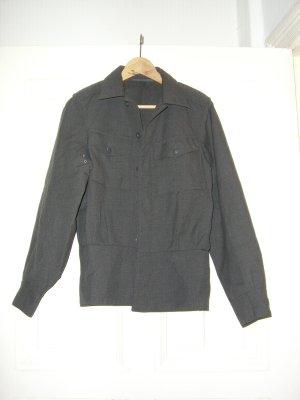 Chemise à manches longues gris-gris foncé