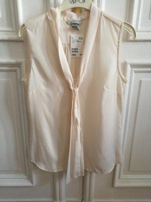 Armellose Bluse mit V Ausschnitt