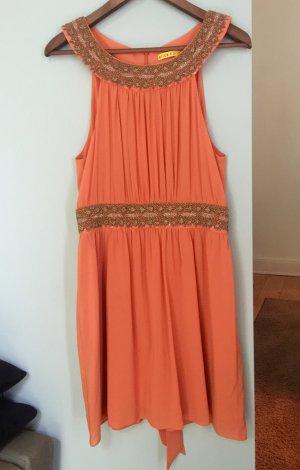 Armfreies Kleid von Alice & Olivia aus Seide mit Steinbesatz