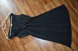 Armfreies schwarzes Basic Kleid mit Glockenrock Gr.38 Esprit