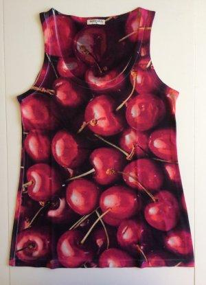Armlos Shirt mit Kirsche, Größe M