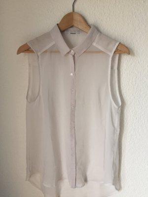 Armlose Bluse mit Kragen