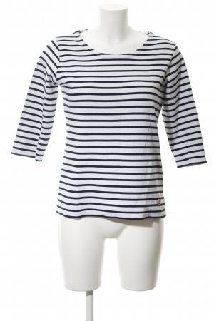 Armor Lux Longsleeve black-white striped pattern casual look