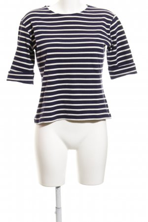 Armor Lux Longsleeve natural white-dark blue striped pattern casual look