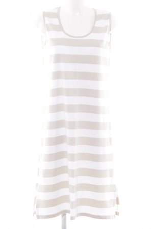 Armor Lux Midi Dress white-beige striped pattern casual look