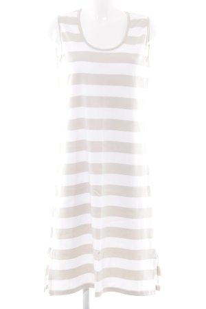 Armor Lux Vestido a media pierna blanco-beige estampado a rayas look casual