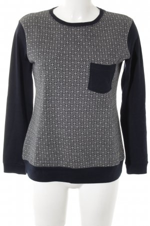 Armor Lux Crewneck Sweater white-dark blue abstract pattern casual look