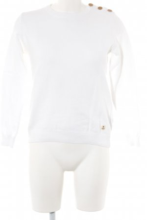 Armor Lux Strickpullover weiß Webmuster Casual-Look