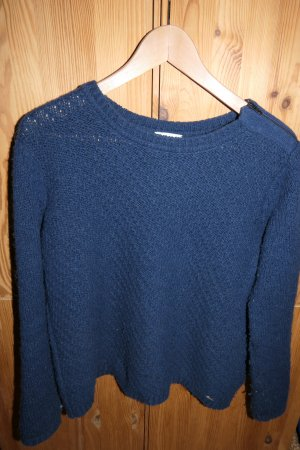 Armor Lux Knitted Sweater dark blue wool