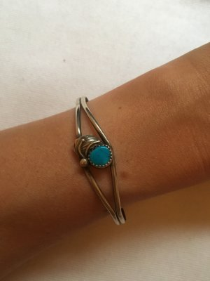 Bangle silver-colored-light blue