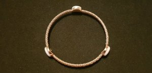 Dyrberg/Kern Bangle gold-colored-natural white
