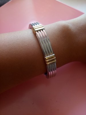 Bangle zilver-goud