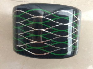 Kenzo H&M Bangle black synthetic material