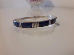 Armreif Armband Armspange Silber 925 mit Lapislazuli Vintage