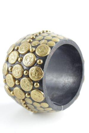 Bangle donkerbruin-goud extravagante stijl