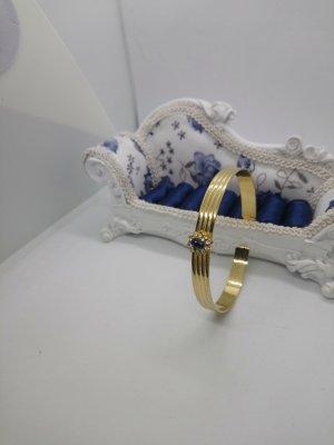 Armreif Gold Blaue Stein