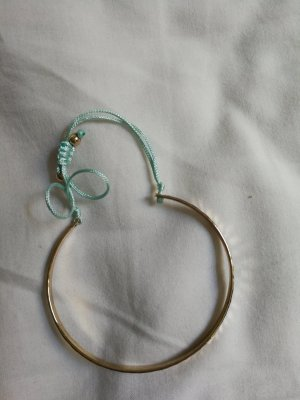 Bangle gold-colored-light blue