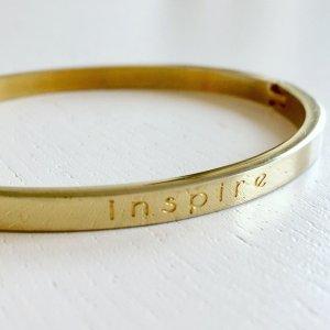 Armreif Gold Inspire Bracelet Clipverschluss Oval