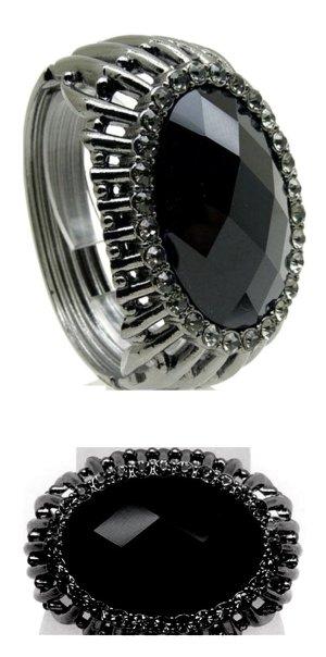Bangle black-grey metal