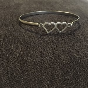 Bangle grey-silver-colored