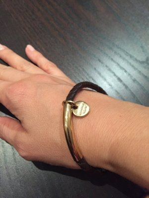 Dyrberg/Kern Bangle gold-colored-dark brown