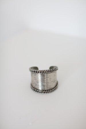Armreif Mango Vintage Stil Messing Silber Onesize Cuff Armspange