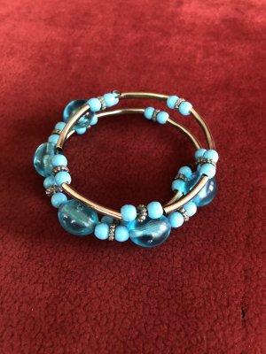 Bangle silver-colored-neon blue