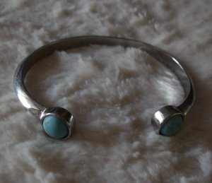 Bangle silver-colored-turquoise