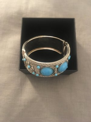 Madeleine Bangle turquoise-silver-colored
