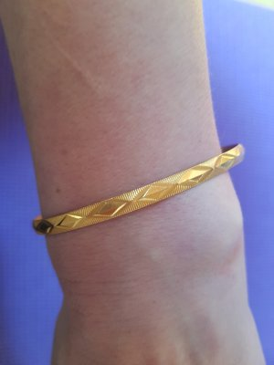 Bangle gold-colored real gold