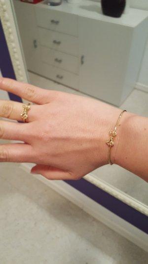 armreif + ring von ted baker in gold mit Schleife