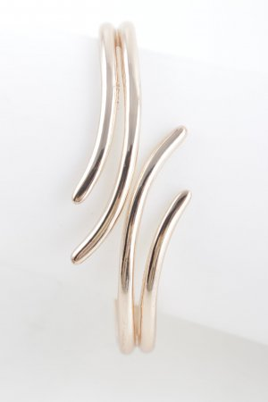Bangle rose-gold-coloured abstract pattern casual look