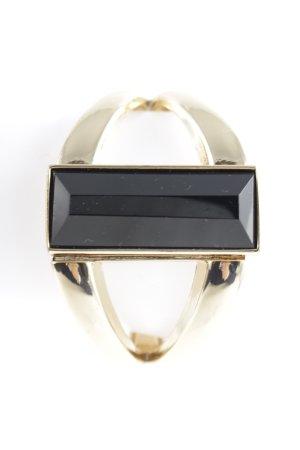 Jonc noir-doré style extravagant