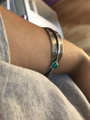 Asos Bangle silver-colored-turquoise
