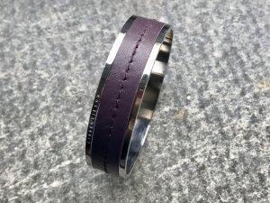 Armreif Silber mit Ledereinband Dyrberg & Kern