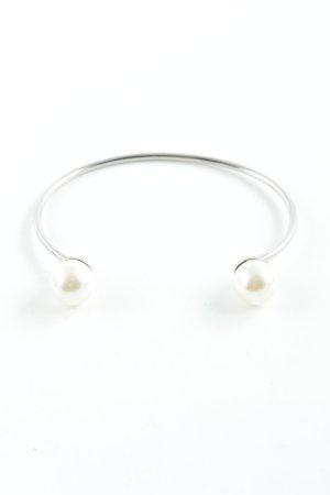 Bangle zilver-licht beige elegant