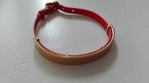Stella & Dot Bracelet en cuir doré-saumon cuir