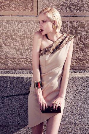 Armreif von MANGO, Blogger, Style, gold, Steine, Armband, Schmuck, Metall